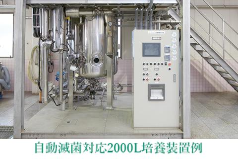 自動滅菌対応 2000L 培養装置例